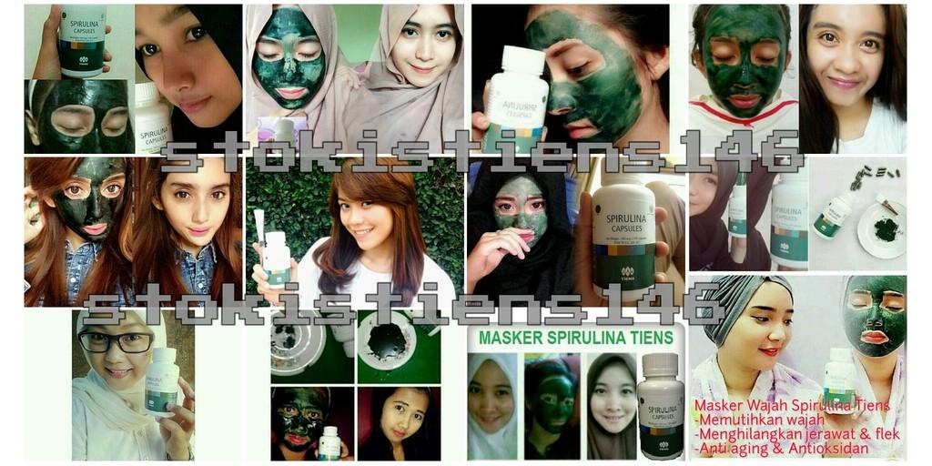 Masker Wajah Spirulina Tiens dan Masker Wajah Chitosan Tiens