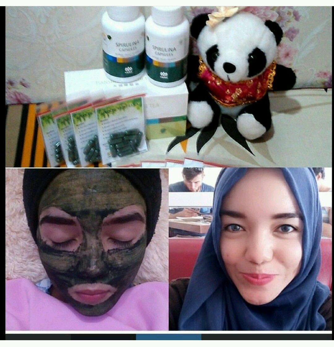 Masker Wajah Spirulina 100 Kapsul