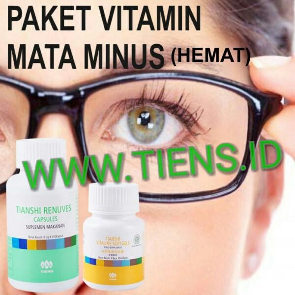 Paket Vitamin Mata Minus Hemat Renuves dan Vitaline Tiens ...