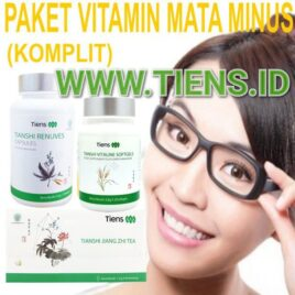 Paket Vitamin Mata Minus Komplit Renuves, Vitaline dan Jiang Zhi Tea Tiens | Mata Sehat