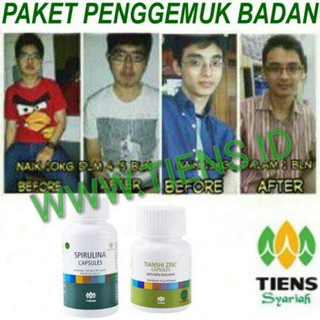 Paket Penggemuk Badan Spirulina Zinc Tiens