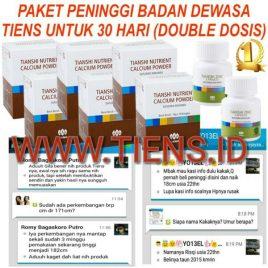 Peninggi Badan Dewasa 30 Hari Double Dosis Kalsium Zinc Tiens Tianshi Meninggikan Badan (Paket Gold)