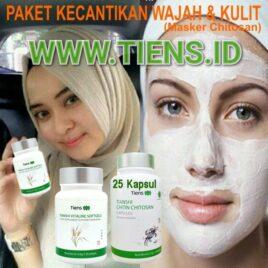 Paket Kecantikan Wajah dan Kulit Tiens Vitaline + Masker Chitosan 25 Kapsul Tianshi