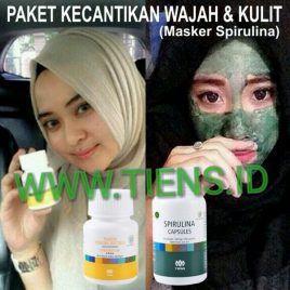 Paket Kecantikan Wajah dan Kulit Tiens Vitaline + Masker Spirulina 25 Kapsul Tianshi