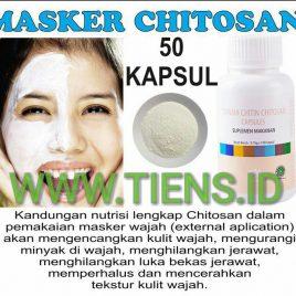 Masker Chitosan Tiens 50 Kapsul | Wajah Bebas Berminyak dan Kencang