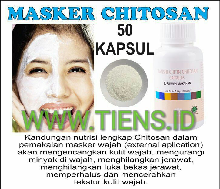 Masker Chitosan Tiens 50 Kapsul