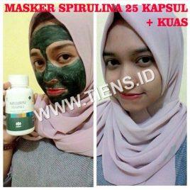 Masker Spirulina Tiens 25 Kapsul | Wajah Cerah Kencang Putih Alami Herbal
