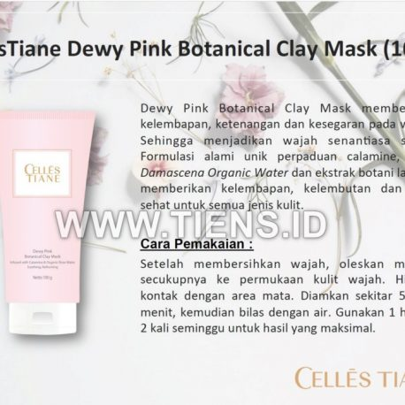 cellectiane dewy pink botanical mask tiens