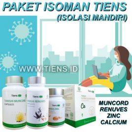 Paket Isoman Tiens   Vitamin Isolasi Mandiri Virus   Muncord Renuves Zinc Calcium